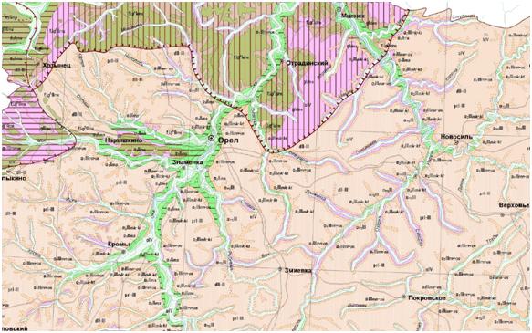 карта четвертичных отложений